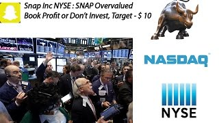 NYSE:SNAP| Snap Inc SnapChat Valuation Very High| Sell & Target $10