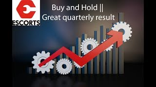 Stock Market|| Escorts Motors|| Buy and Hold|| Great quarterly result