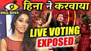 Hina Khan's TANTRUM The Reason For LIVE Voting Against Shilpa Shinde? | Bigg Boss 11