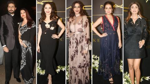 Aishwarya Bachchan, Shilpa Shetty, Madhuri Dixit Attend 12 Years Celebration of Mickey Contractor
