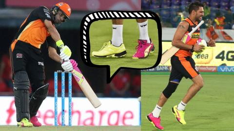 Never seen such shoes before on a cricket field