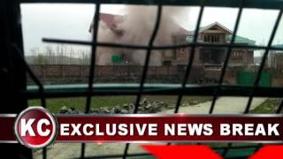 Blast in Residential house amid Encounter Between Militants, Security Forces in Chadoora