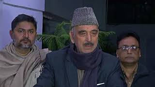 Ghulam Nabi Azad addresses media on Haj subsidy, January 16, 2018