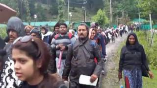 Kashmir Crown : First batch of Yatris flagged off from Nunwan base camp