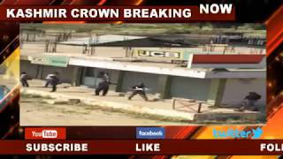 Kashmir Crown : People protesting against thrashing of driver by CRPF troopers in Kashmir capital