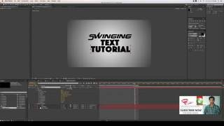 AfterEffects Tutorial in Punjabi (Kinetic Typography (Swinging x Rotation)