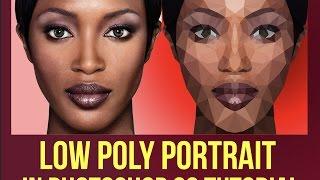 Photoshop tutorials ( Low Polygon Portraits)