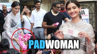 Sonam Kapoor DISTRIBUTES Sanitary Pads To School Girls - Padman Promotion
