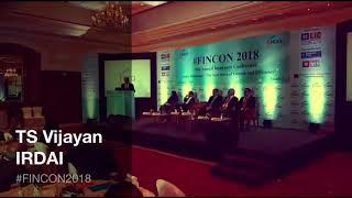 TS Vijayan, Chairman, IRDAI at #FINCON2018