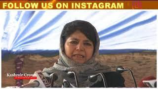 Don't Play Khoon Ki Holi in Kashmir Mehbooba Mufti Urges India Pakistan in Baramulla