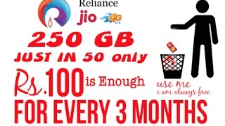 4G JIO IN RS. 100 FOR EVERY 3 MONTHS | Rs 1000 for 4g phone