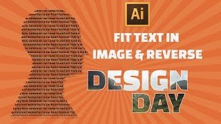 HOW TO FIT TEXT IN IMAGE AND IMAGE IN TEXT ADOBE ILLUSTRATOR TUTORIAL