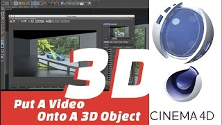 Adding a video into a  3D Object | C4d Tutorial