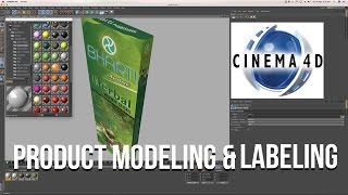 Product Modeling and Labeling  in C4D | Cinema 4D Tutorial
