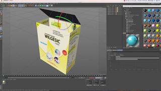 Medicine Box Labeling in Cinema 4D