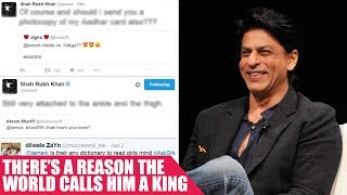 #BollywoodSass: 9 Jaw Dropping Replies By SRK