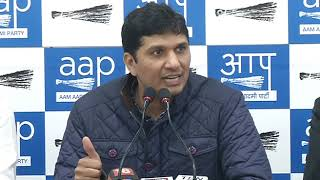 Aap Chief Spokesperson Briefs media on the Strike  by Traders against Sealing issue