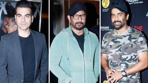 R. Madhavan, Amit Sadh, Sapna Pabbi, Arbaaz Khan At Special Screening Of Amazon Originals 'Breathe'