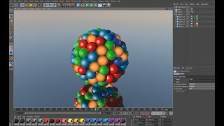 C4D Particles Emitter in 3D, Cinema 4D Tutorial