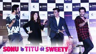 Sonu Ke Titu Ki Sweety Cast Launches Carnival 1st Lounge - Kartik Aaryan, Nushrat, Sunny Singh