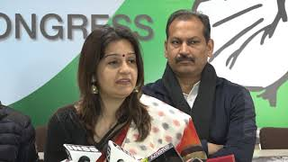 AICC Press Briefing By Priyanka Chaturvedi  at Congress HQ on Law & Order crumbling in Haryana