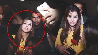 Shilpa Shinde GETS MOBBED By Fans At Sabyasachi Birthday Party