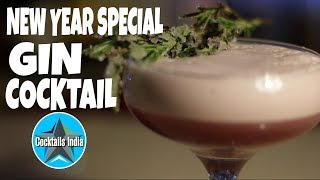 new year special cocktail | gin cocktail | cocktail recipe