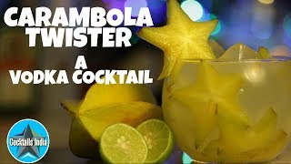 how to make cocktail with carambola | star fruit cocktail | cocktail with vodka
