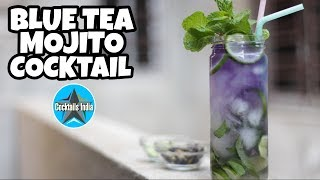 how to make blue tea mojito | how to make mojito in hindi | how to make butterfly pea mojito