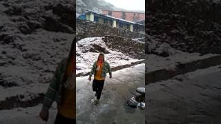 Snowfall at Tungnath on 30th Aptil