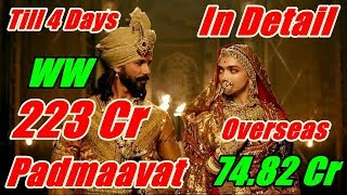 Padmaavat Worldwide Collection Till Day 4 In Detail