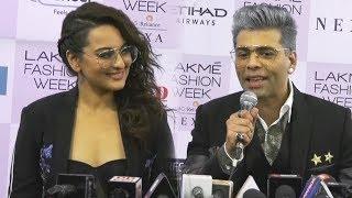 Karan Johar & Sonakshi Sinha FULL INTERVIEW At Lakme Fashion Week 2018