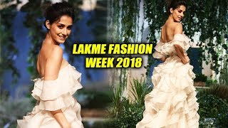 Disha Patani Ramp Walk At Lakme Fashion Week 2018 | LFW 2018