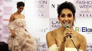 Disha Patani FULL INTERVIEW At Lakme Fashion Week 2018 | LFW 2018