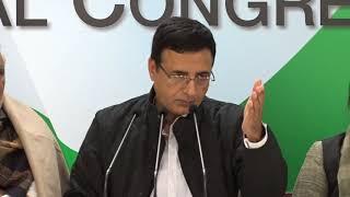AICC Press Briefing By Randeep Singh Surjewala on the political vendetta by Modi Govt
