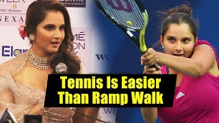 Tennis Is Easier Than Ramp Walk, Says Sania Mirza At Lakme Fashion Week 2018