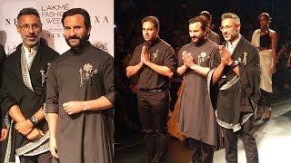 Saif Ali Khan ROYAL RAMP Walk At Lakme Fashion Week 2018 | LFW 2018