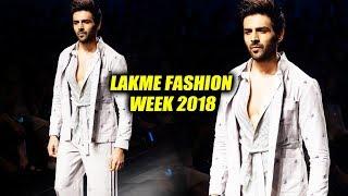 Kartik Aaryan RAMP Walk At Lakme Fashion Week 2018 | LFW 2018