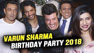 Varun Sharma Full Night Birthday Party 2018   Varun Dhawan, Bobby Deol, Govinda