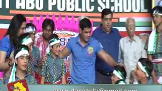 Olympian Indian Wrestler Sushil Kumar at Mount Abu School in Rohini