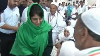 Mehbooba Mufti sees off first batch of Hajj pilgrims