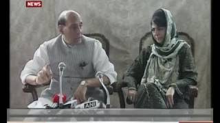 HM Rajnath Singh holds joint Press briefing with J&K CM