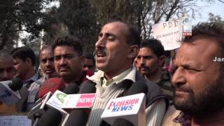 PDD daily wagers' protest dharna enters 25th day