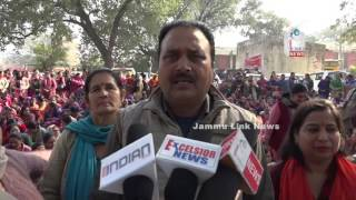 Anganwadi workers, helpers hold protest demonstration