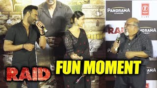 Raid Official Trailer Launch | Funny Moments | Ajay Devgn | Ileana D'Cruz | Saurabh Shukla