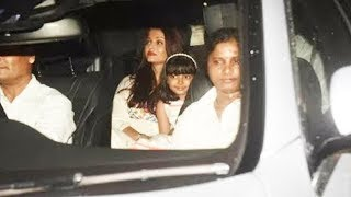 Aishwarya Rai With Daughter Aaradhya ARRIVES At Karan Johar Kids Yash and Roohi Birthday Party 2018