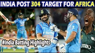 Full India batting highlights | India vs South Africa 3rd Odi | India 303-6 (50) | RSA Batting
