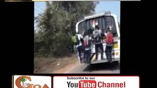 Video Shows – School Kids Hanging Dangerously Out Of The Bus In Goa