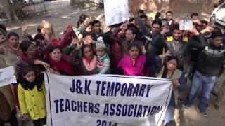 Temporary teachers protest, seek regularisation