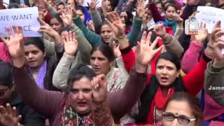 NHM employees hold protest in support of demands